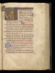 Historiated Initial With The First Temptation Of Christ, In A Psalter